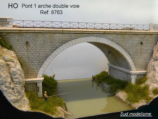 pont 1 arche double voie. Black Bedroom Furniture Sets. Home Design Ideas